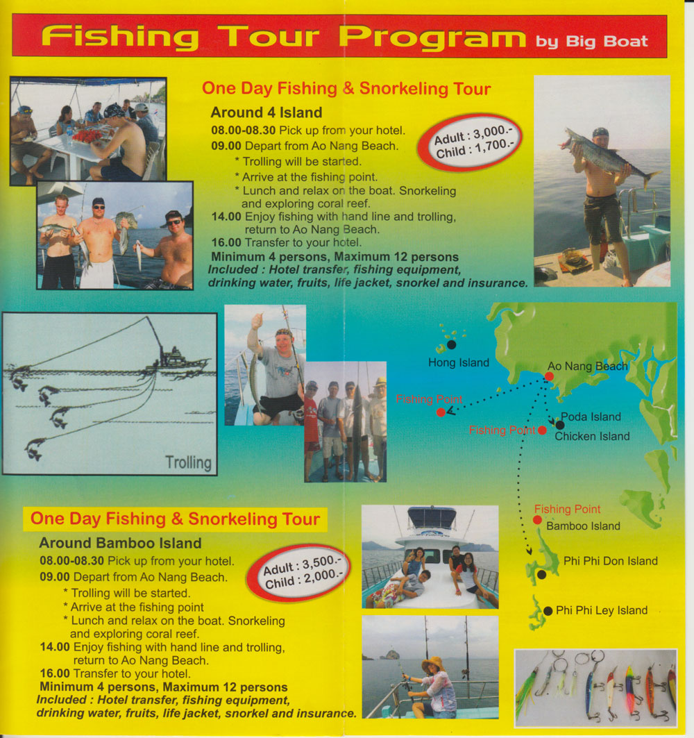 Krabi Villa fishing tour