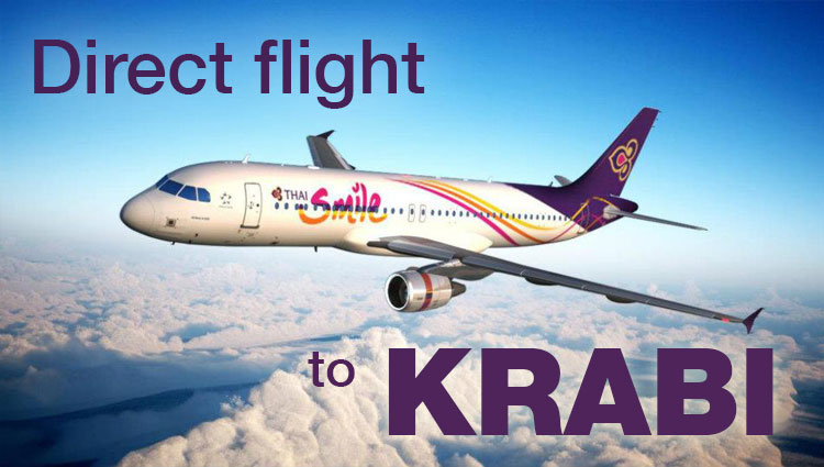 Direct flights to Krabi, Thailand